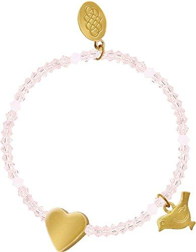 Armband - Glasperlen-Armband mit Herz und Segenstaube