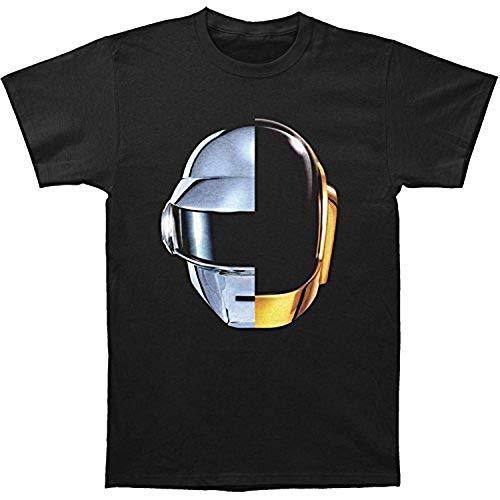 Rebirth Personalized T-Shirt Daft Punk Split Helmet T-Shirt Men's Punk T-Shirt