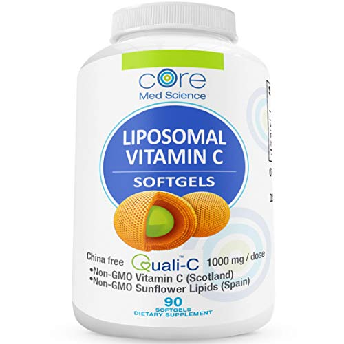 Optimized Liposomal Vitamin C SOFTGELS China-Free | Quali-C Scottish Ascorbic Acid | China-Free | High Absorption Immune System Support & Collagen Booster Supplement | Non-GMO | No Soy | 30 Servings