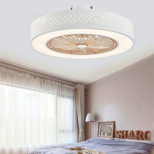 -Luces de Techo Ventilador Ventilador de techo con kit de luces, luz de techo LED regulable de montaje empotrado moderno, accesorio de luz LED redondo integrado con control remoto ,3 X aspas de ABS ,B