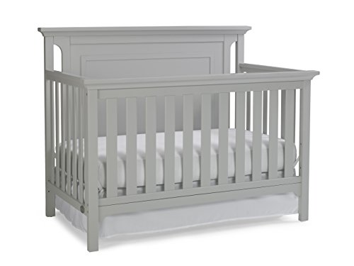 Save %10 Now! Ti Amo Carino 4-in-1 Convertible Crib, Misty Grey