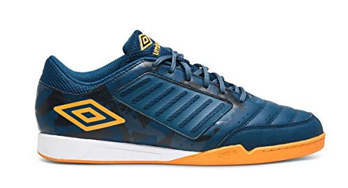 Umbro Chaleira Liga, Zapatillas de fútbol Sala para Hombre, Azul (Gibraltar Sea/Bright Marigold Fxb), 44 EU