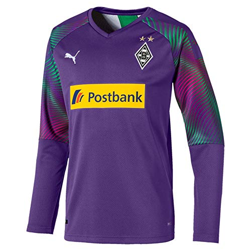 PUMA Jungen BMG GK Shirt Replica Jr with sponsor Torwarttrikot, Prism Violet, 152