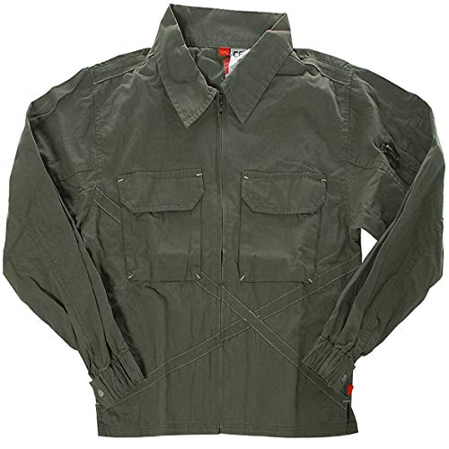 CFL Jungen Jacke Shirtjacke Polokragen Khaki 158
