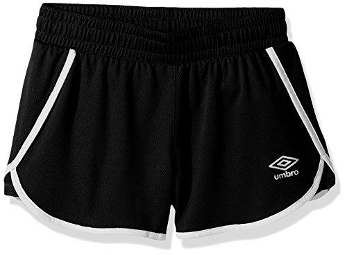 Umbro Girls Extra Time Shorts, Black/White, Small