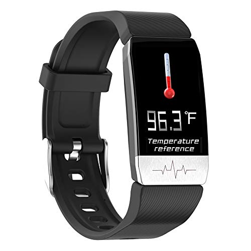 Fitness Tracker with Body Temperature Smart Bracelet Activity Tracker with Heart Rate Monitor Blood Pressure Monitor Pedometer Sleep Tracker Digital Smart Watch IP67 Waterproof for Kids Women Men
