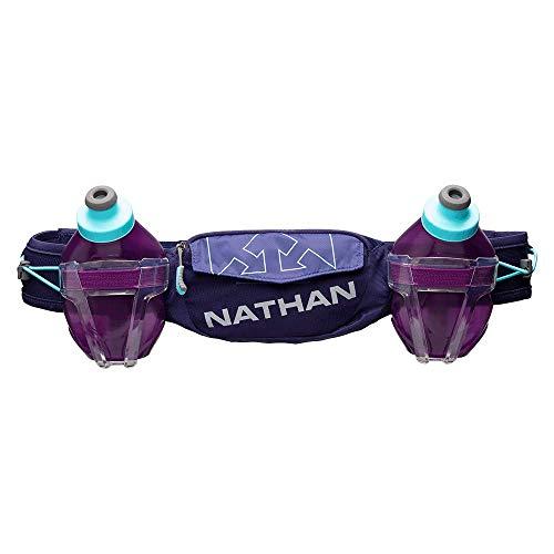 Nathan Trail Mix Plus Ceinture de course à pied réglable avec poches de rangement Compatible avec la plupart des iPhone et smartphones