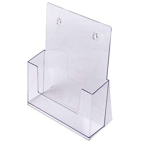 Prospekthalter DIN A4, Aufsteller Prospektständer Flyerhalter Flyerständer Acryl glasklar Prospekthalter A4