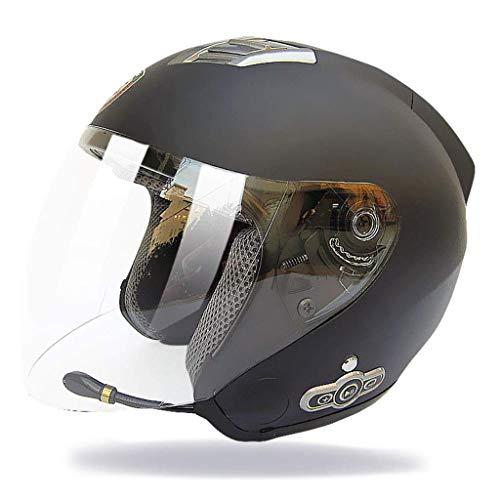 Casco de casco completo Motocicleta Bluetooth Parasol antivaho Bluetooth Micrófono integrado Altavoz incorporado Contestador automático, Certificación DOT (Size : XXL)