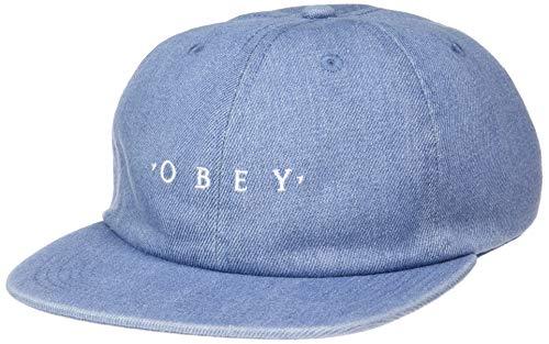 Obey Herren Temper 6 Panel Strapback Baseball Cap, Helles Indigoblau, Einheitsgröße
