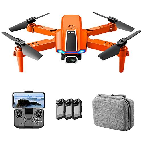 Flytise Rc Drone, YLR/C S65 RC Drone con cámara 7K Dual Camera RC Quadcopter con función Trayectoria Vuelo Control de gestos Paquete de bolsa de almacenamiento