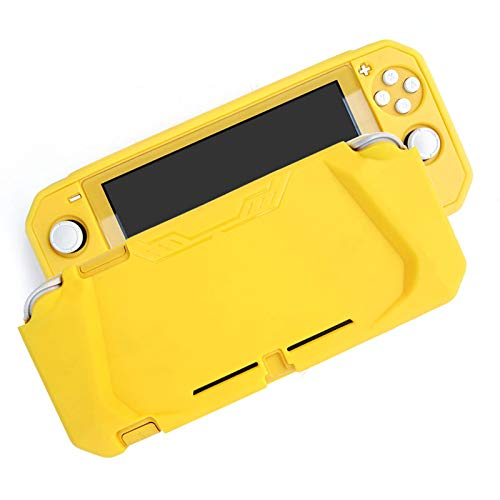 Yogyro Switch Lite Case Protective Cover Case for Nintendo Switch Lite, Soft TPU Grip Case Cover with Shock-Absorption and Anti-Scratch Design. Including Tempered Glass Screen Protector. Yellow