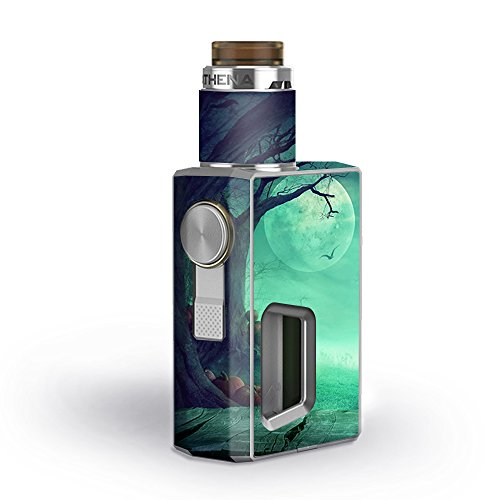 Skin Decal Vinyl Wrap for GeekVape Athena Squonk Kit Vape Kit skins stickers cover / Halloween Tree Moon