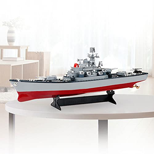 YSKCSRY 1:250 Oversized Military Toy 2.4GHZ Wireless RC Ship Sea Battleship Model Suitable for Swimming Pools and Lakes Summer Water Toys Gifts for Adults and Children