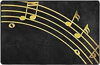 ゴールデンミュージックノートピアノスーパーソフトインドアモダンエリアラグふわふわラグダイニングルームホームベッドルームカーペットフロアマットベビーキッズ犬猫60x39インチ-60x39インチ