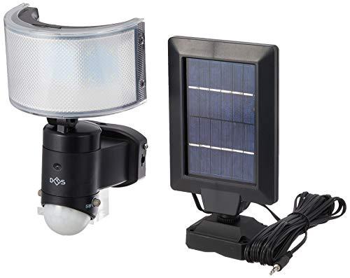 大進 センサーライト ソーラー式 昼白色LED 明るさ510ルーメン 広角レンズ 防雨構造