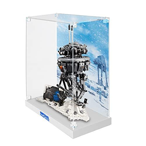 HYMAN Vitrina de acrílico Vitrina expositor Box Showcase compatible con Lego 75306 Star War modelo Imperial de búsqueda modelo Lego, sin modelo Lego