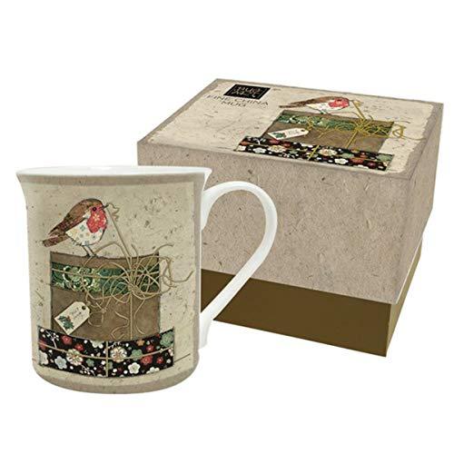 Bug Art [Q4096 - Mug Porcelaine (Rouge Gorges Noël) - 90x85 mm