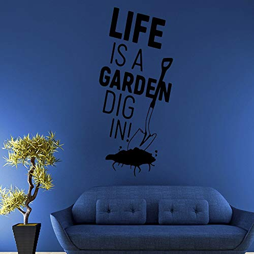 zqyjhkou Cartoon Das Leben Ist EIN Garten Selbstklebende Vinyl wasserdichte Wandkunst Aufkleber Für Wohnkultur Wohnzimmer Schlafzimmer Aufkleber 51x117cm