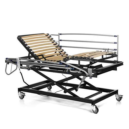 Ferlex - Cama articulada con Carro Elevador | Barandillas abatibles (90x190)