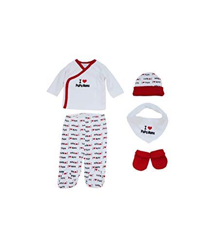 Duffi Baby 1328-11 5 piezas Set de regalo estampado 0-6 meses