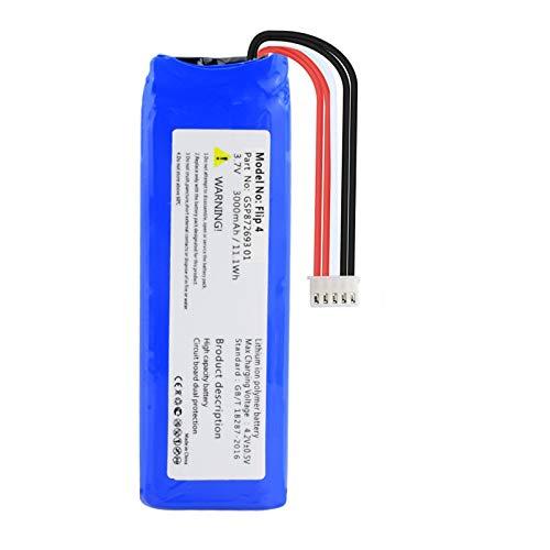 ZJBKX Batería De 3.7v 3000mah, para Batería De Altavoz De PolíMero De Litio Flip 3 Flip 4 ForFilp4