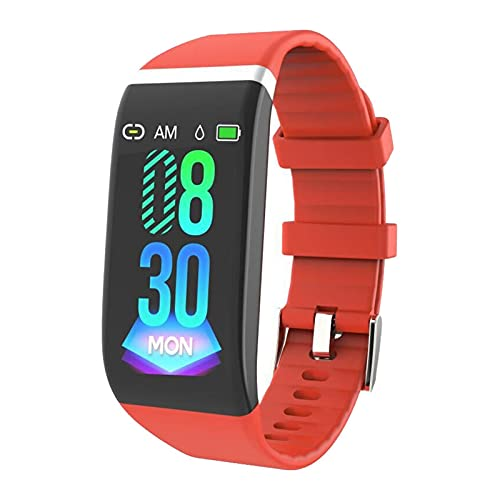 LKJHGFD RUNSHIBAIHUODIAN Sport Smart Band Pulsera Reloj Fitness Pulsera Reloj Dynamic Fitness Tracker Ajuste para Hombres Mujeres (Color : Red)