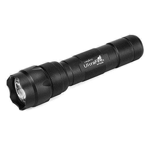 UltraFire LED Taschenlampe WF-502B,1000 Lumens 5-Modus Taktische Taschenlampe,Wasserdicht Handlampe Kleine Taschenlampe,Klassischer Stil