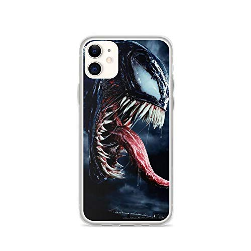 TEEDUYEN Compatible with iPhone 11 Case Spiderman Venoms Alien Spiderman American Movie Pure Clear Phone Cases Cover