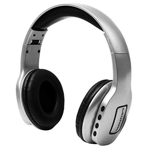 GRUNDIG Bluetooth Stereo Kopfhörer inkl. Mikrofon, bis 10m Reichweite, Silber, Smartphone und Tablet Stereokopfhörer Headset kabellos