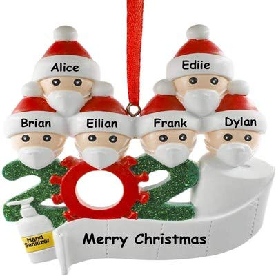 Christmas Ornament Customized Survivor Family 2020 Christmas Holiday Decorating Kit, Children Kids Gift