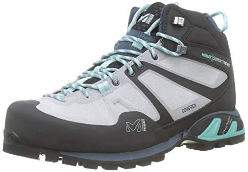 Millet Damen Super Trident GTX W Trekking- & Wanderschuhe, Grau (High Rise/Aruba Blue 8885), 39 1/3 EU