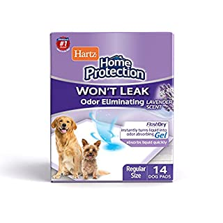 Hartz Home Protection Odor Eliminating Scented Dog Pads, Super Absorbent & Won't Leak, Lavender Scent, Regular Size, 14 Count (B00PG91SS8) | Amazon price tracker / tracking, Amazon price history charts, Amazon price watches, Amazon price drop alerts