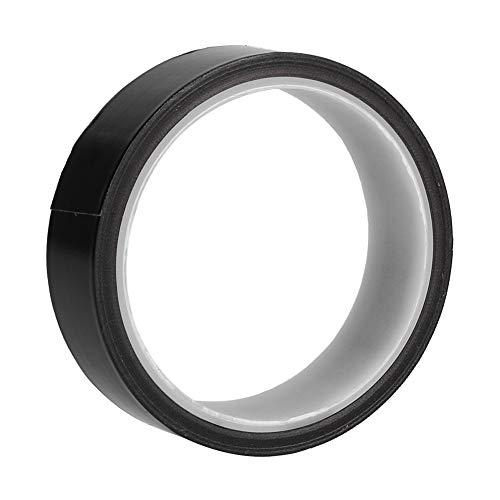 Cinta adhesiva antideslizante, 260 ℃ 300 ℃ Cinta de tela de arnés con teflón para la industria 25mmx10m (negro)