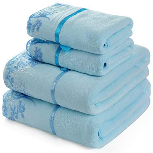 langchao Microfiber bath towel towel set thick beach towel dry hair towel 70 * 140