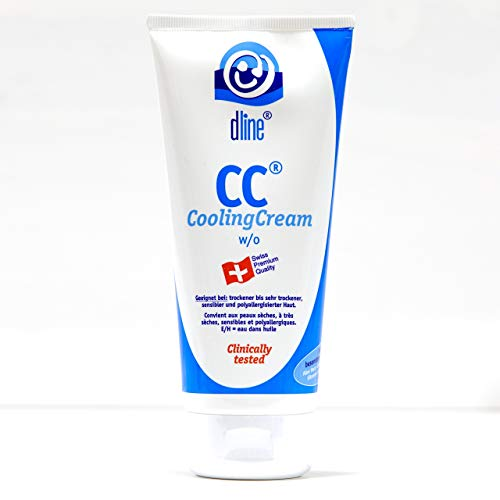 dline CC-CoolingCream 200ml, reichhaltige pflegende Feuchtigkeitscreme für normale bis sehr trockene sensible polyallergisierte Haut, w/o, Lipide 28%, Tube (1 x 200 ml)