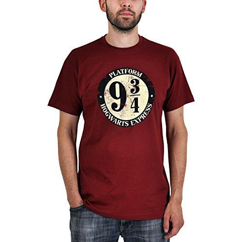 Harry Potter - camiseta del andén 9 y 3/4 - algodón - burdeos - XXL