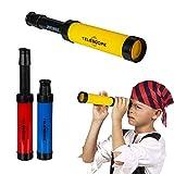 OOTB Catalejo para niño - Color Aleatorio: Azul, Rojo o Amarillo - Telescopio de Juguete, Disfraz de Pirata