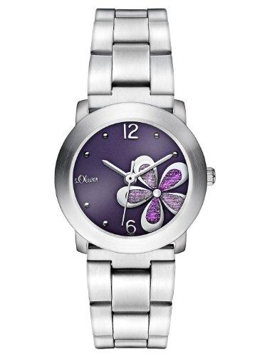 s.Oliver Damen-Armbanduhr Casual XS Analog Quarz Edelstahl SO-2480-MQ