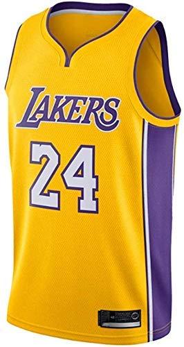 Lakers Kobe Bryant Jersey Nº 24 Camiseta de Baloncesto para Hombre XXL Amarillo