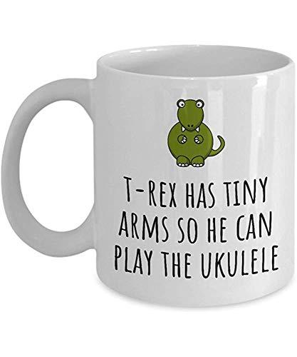 T-Rex heeft kleine armen zodat hij kan spelen de Uke - Grappige Ukulele Player Gift Idee - Koffiemok