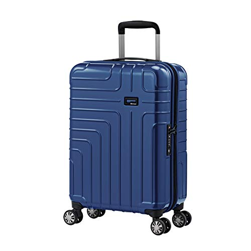 Eminent Hand Luggage Helios 55 cm 36 L Lightweight 4 Double Wheels TSA Lock Blue