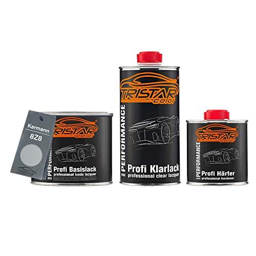 Preisvergleich Produktbild TRISTARcolor Autolack Set Dose spritzfertig für Karmann 8Z8 Brillantsilber Metallic Basislack + 2K Klarlack 1, 25L
