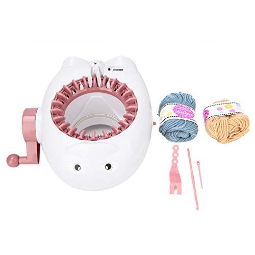 03 Máquina de Tejer para niños, Máquina de Tejer a Mano con Forma de Animal Duradera, Material plástico para Calcetines Tejidos Tejidos Tejidos Bufandas Sombreros Tejidos