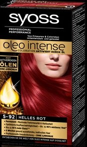 Syoss Oleo Intense 5-92 Helles Rot 115ml, 3er Pack (3x115ml)