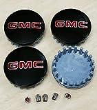 YAKKU Set of 4 GMC Wheel Center Caps Emblem,...