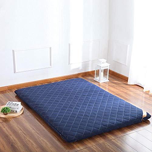 Price comparison product image DULPLAY Floor Sofa Futon, futons Mattress Foldable Bed Floor Couch Japanese Floor Mattress Sleeping Pad Shikifuton Blue 120x200cm