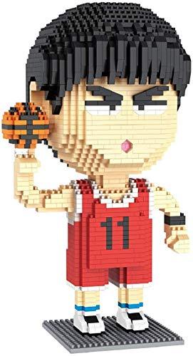 BBHH Mini Bloques De Construcción Jugador De Baloncesto Modelo De Dibujos Animados Bloques De Diamante Niños Edificio De Juguete Niños Regalos,B
