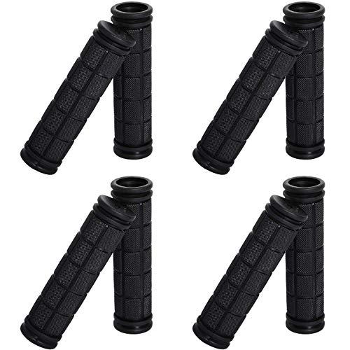4 pares de manillares de bicicleta antideslizantes de goma para BMX, MTB, carretera, montaña, niños, niñas, color negro