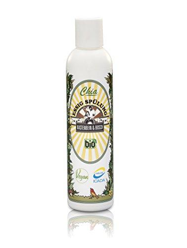 Chia Vinaigre De Chasse – Bio, vegan & Glycérine sans – naturelle anti-pelliculaire spülung Boîte pour une chevelure saine et brillante – Soins des cheveux de jambe & Bosch, 200 ml